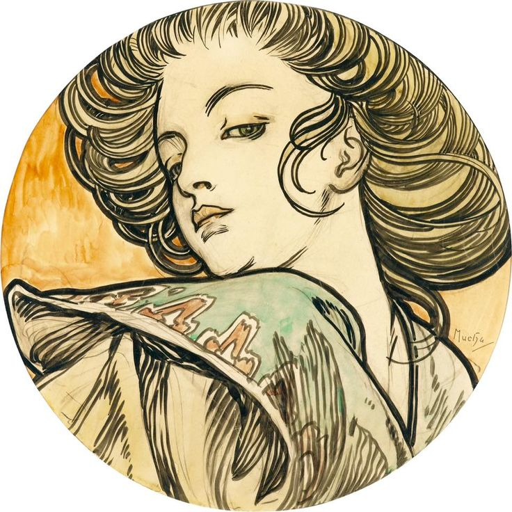 The Athenaeum - Portrait of a Young Woman (Alfons Mucha - )
