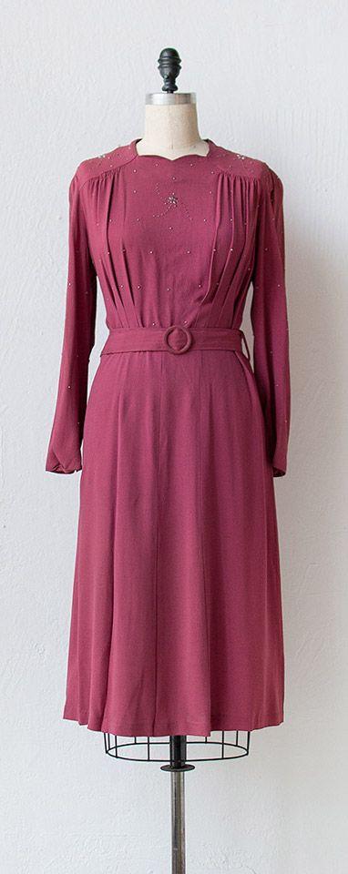 vintage 1940s dress | 40 dress