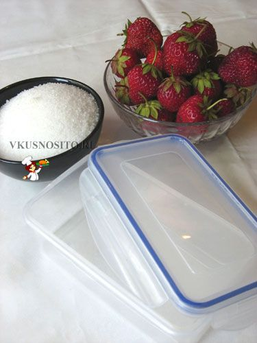 замороженная клубника на зиму . frozen strawberries in winter