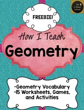 "This is my geometry FREEBIE that includes a game I use to give my students practice classifying shapes in my classroom. This contains a small part of my ""How I Teach Geometry"" unit to give you an idea of what you're getting in the full product.I use these activities in my classroom to teach geometry each year.This sample game is called ""I'm the Best Polygon!""Included in the whole product you will find:Included in this product you will find:Geometry Vocabulary: pg. 1-8Matching Irregular…"