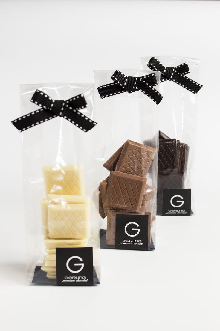Láminas de chocolate bitter, leche y blanco Gerling Choolatier