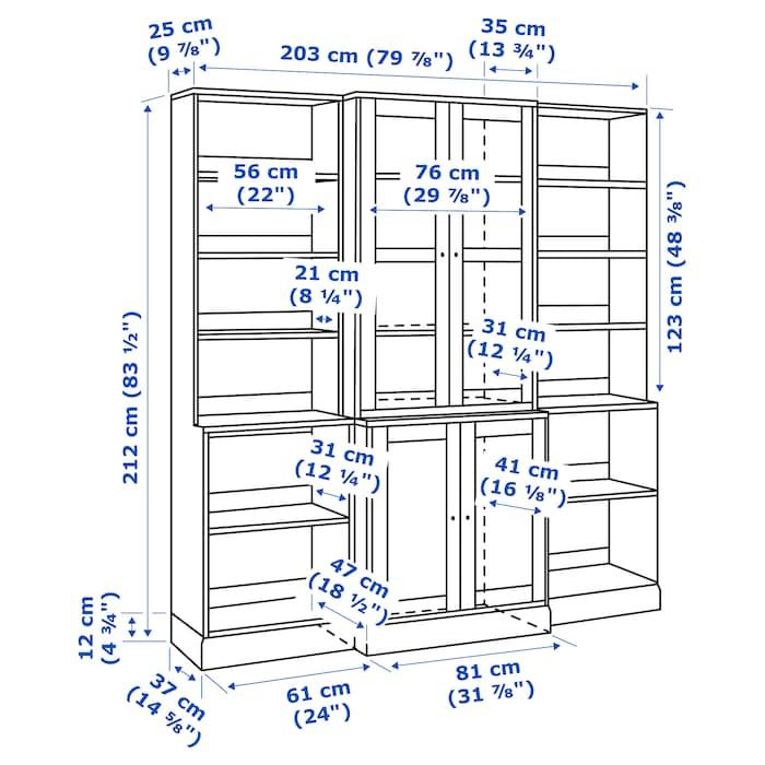 Ikea Havsta Dark Brown Storage Combination W Glass Doors In 2020 Sliding Glass Door Glass Door Ikea