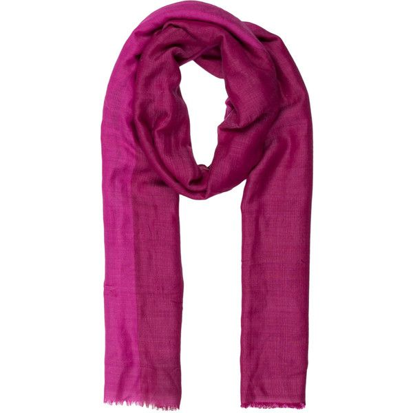 Pre-owned Herm?s Cashmere Silk Shawl (13,240 EGP) ❤ liked on Polyvore featuring accessories, scarves, pink, hermès, pink silk scarves, woven scarves, pure silk scarves and hermes shawl