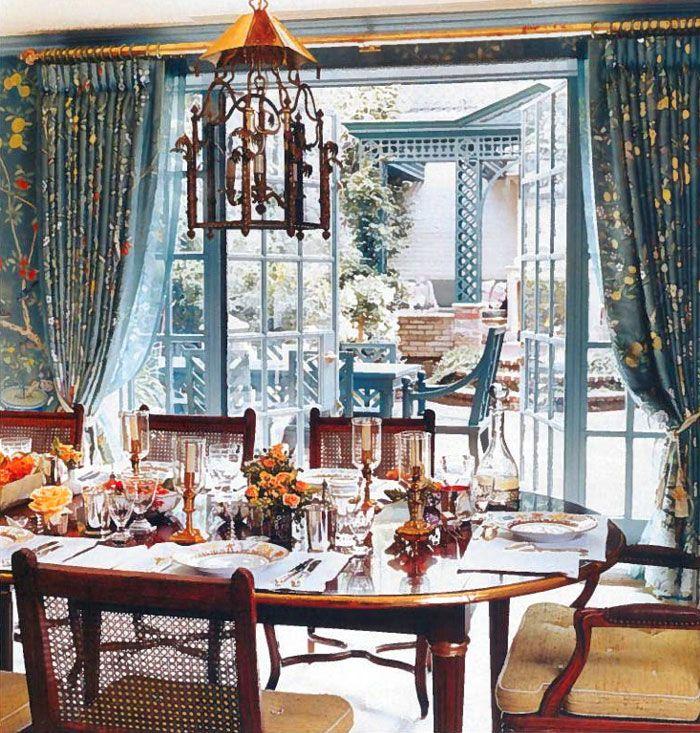 Spot the matching 'outdoor room' -Charlotte Moss