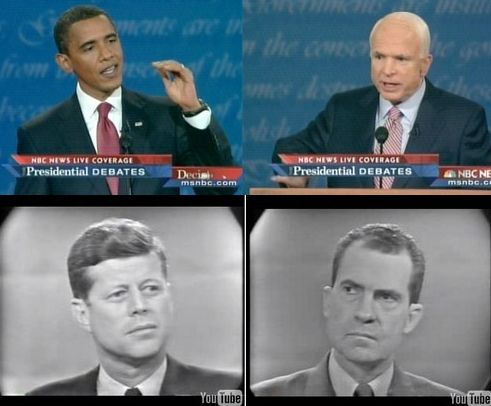 Obama vs McCain & Kennedy vs Nixon.