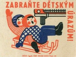 Matchbox label.