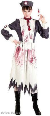 LADIES VICTORIAN EDWARDIAN BLOODY WAR NURSE HALLOWEEN FANCY DRESS COSTUME OUTFIT on eBay!