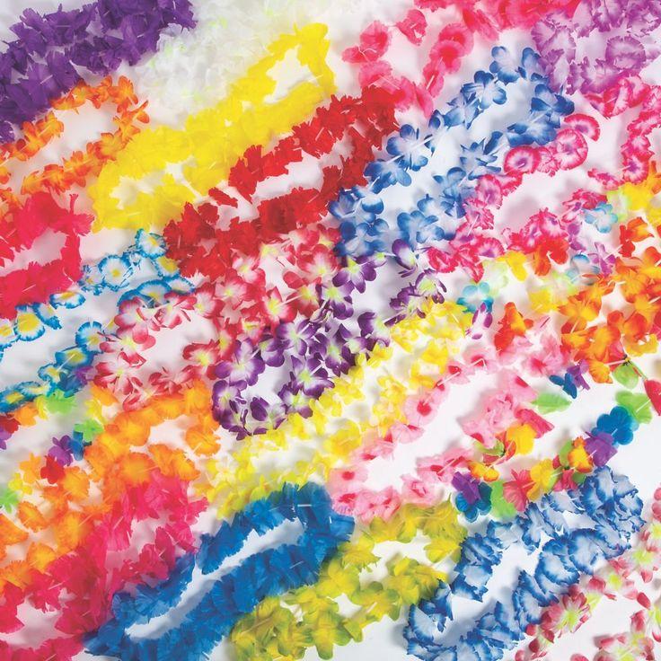 Super Mega Polyester Lei Assortment – 200 Pc