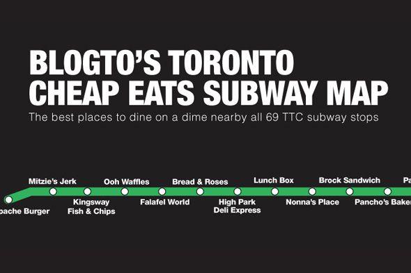 BlogTO's Toronto Cheap Eats Subway Map http://www.blogto.com/upload/2014/07/20131026-ttcmap-large.jpg