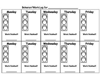 Stoplight Behavior Chart