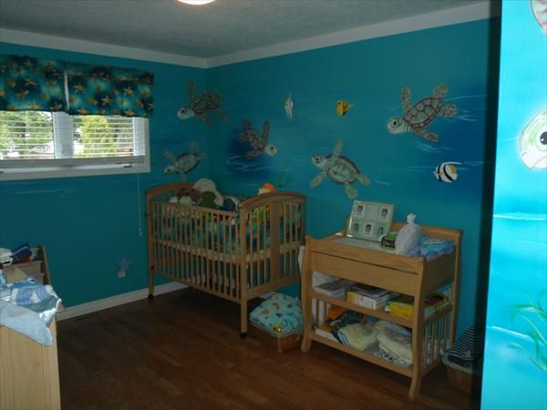 Sea Turtle Themed Baby Room Amazing Beach Bedroom Designs