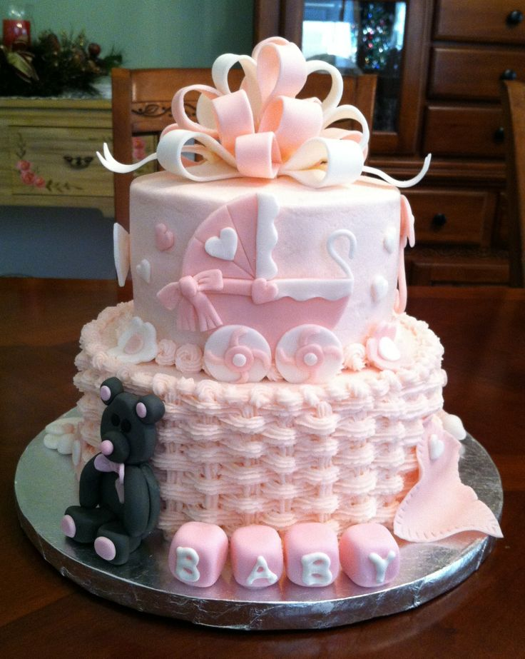Emily's Baby Shower Cake - This is a cake I made for my daughter's baby shower.