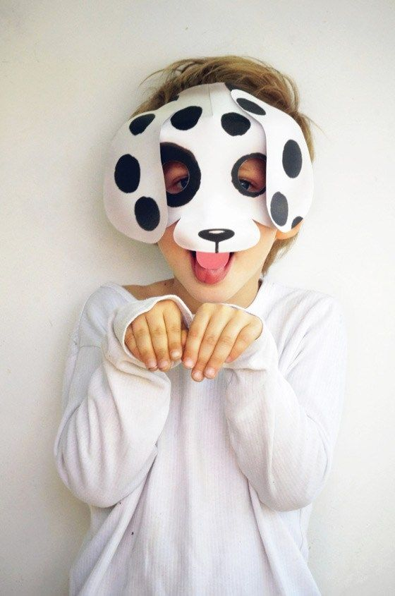 Easy dog mask template: Make your own dog mask!