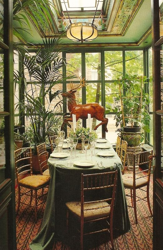 An indoor garden room is so nice when it is cold outdoors. It is even better when the room has lots of windows and it is located adjacent to the outdoor garden.