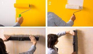 ¿Cómo lograr un efecto rasguñado en el muro? Anímate con este proyecto y #pinta tu hogar ;)