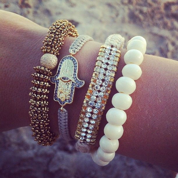 Calypso St. Barth early morning arm party! I want I will get.: Arm Candy, Fashion Style, Stacking Bracelets, Jewelry, Hamsa Hands, Love Bracelets, Calypso Barth, Arm Parties, Evil Eye