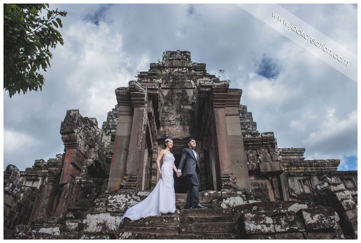 Pre wedding photography at Angkor Wat temples Siem Reap Cambodia