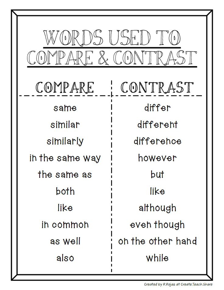 comparative and contrast essay topics