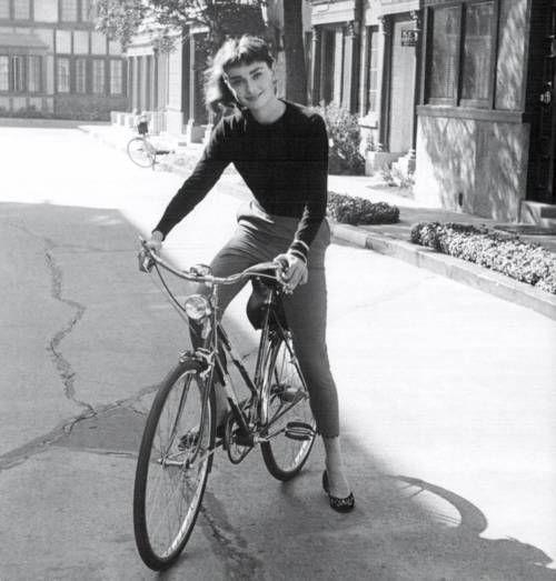 Audrey Hepburn, #bike: Bicycles, Inspiration, 1950S Style, Bike Riding, Audrey Hepburn, Style Icons, Audreyhepburn, Ballet Flats, People