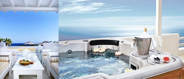 Honeymoon Spa Pool Suite | La Residence Mykonos Luxury 5 Star Hotel Suites www.beaulfy.com 02-523-9182