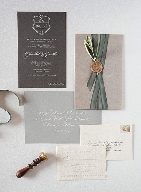 Sarah Drake Design: Custom wedding invitations and gift registry from Chicago, Illinois