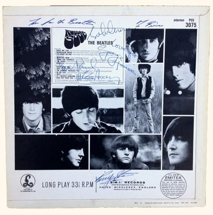 Mega rare fully signed UK Rubber Soul LP