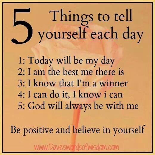 Morning affirmation...