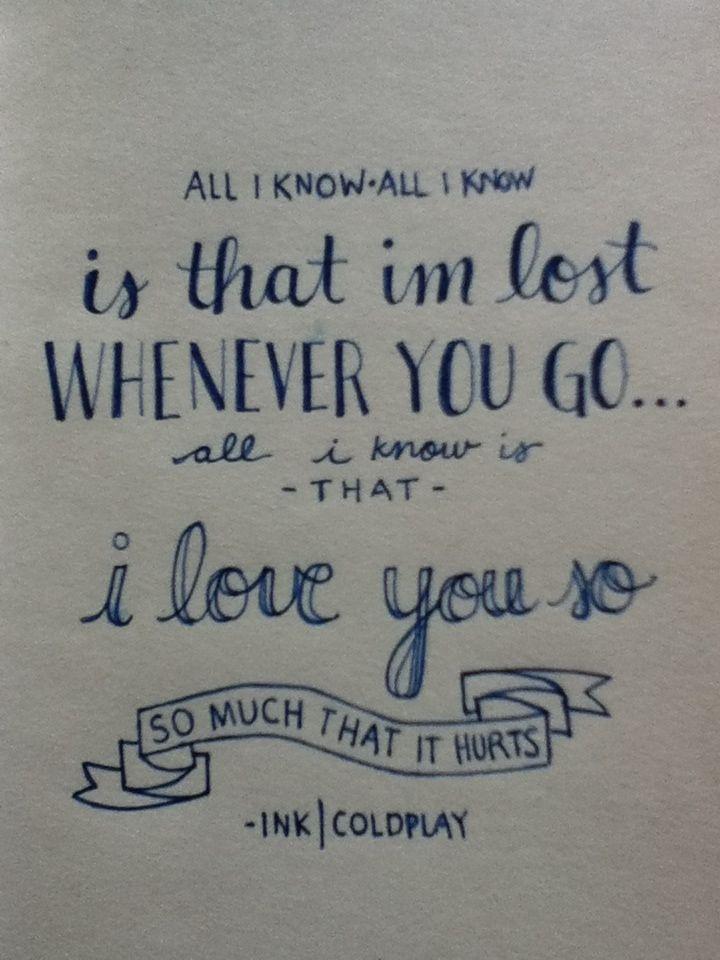 Cold play sparks lyrics