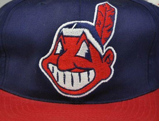 "Vintage MLB ""Cleveland Indians XL Logo"" Snapback Cap"