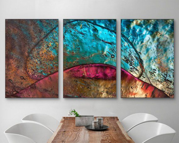 Bohemian Gemstone Wall Art Custom Size Abstract Photography Canvas Original Multi Panel Wall Decor Multi Panel Wall Decor Custom Wall Art Front Rooms