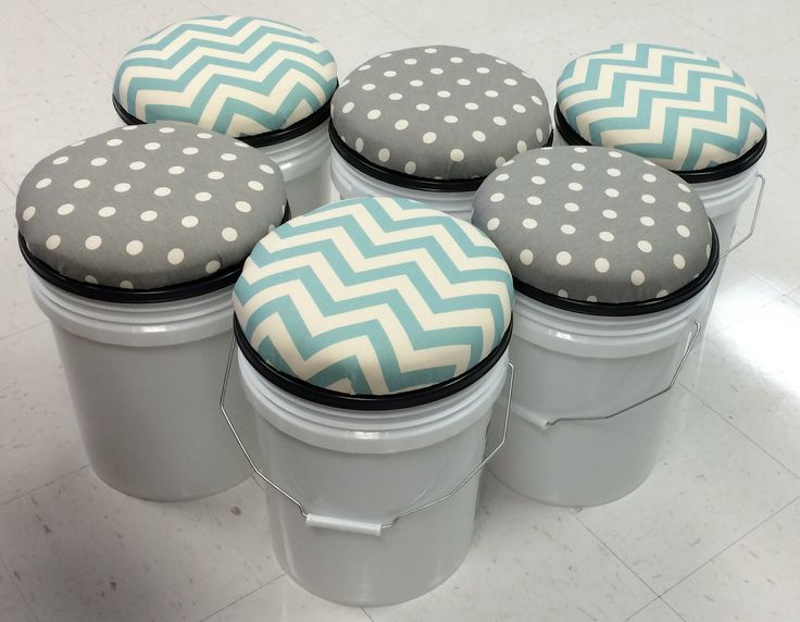 5 Gallon Bucket Stools for Small Group Kidney Table