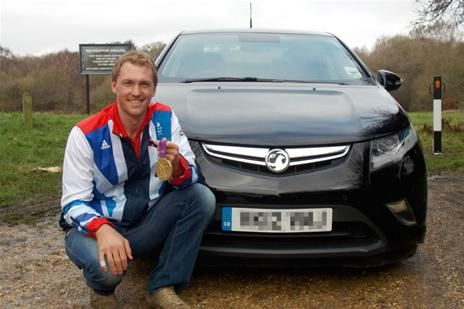 Olympic rowing champion gets a Vauxhall Ampera: http://www.perrys.co.uk/car-news/articles/2014/01/olympic-rowing-champion-gets-a-vauxhall-ampera-24328.php