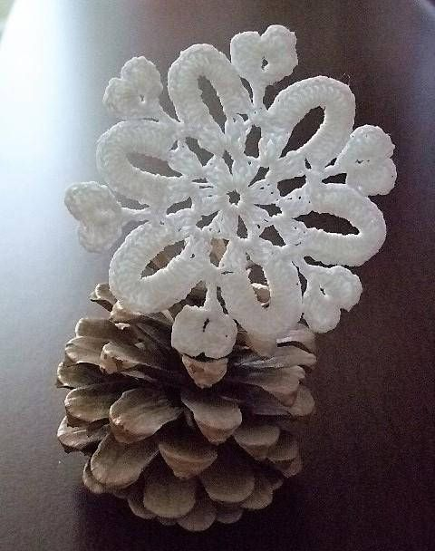 Christmas ornamentsCrochet snowflakeHanging
