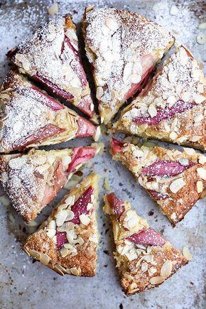 Rhubarb-Almond Cake   http://www.floatingkitchen.net