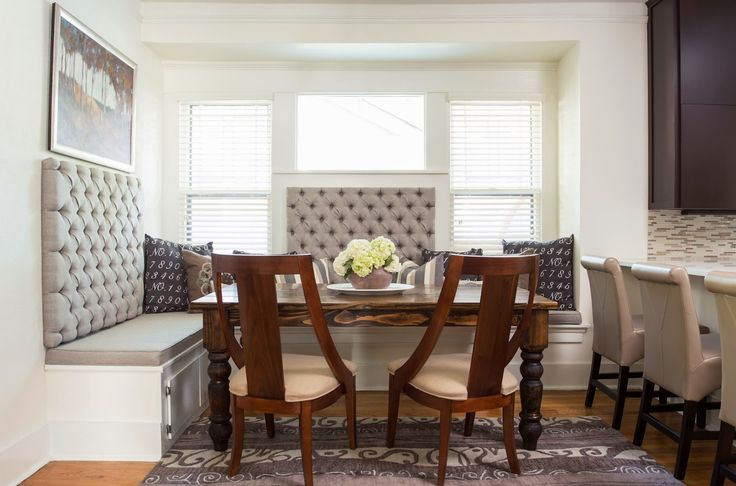Kitchen: Diy Banquette For Kitchen With Large Kitchen Decorating Ideas That Great White Wall Design And Windows from Comfortable Living on the Kitchen Banquette