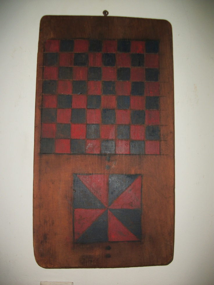Antique 2 Sided New Hampshire Game Board – Circa 1850 -It is 11 ¼ inches wide, 19 ¾ long and 1 inches thick.