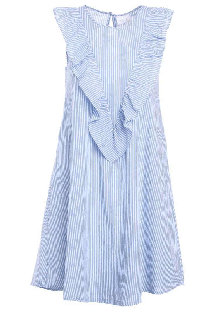 Vila VIPAIRA Freizeitkleid blue/snow white Bekleidung bei Zalando.de | Material Oberstoff: 100% Baumwolle | Kaufen bei http://rstyle.me/~a0z53