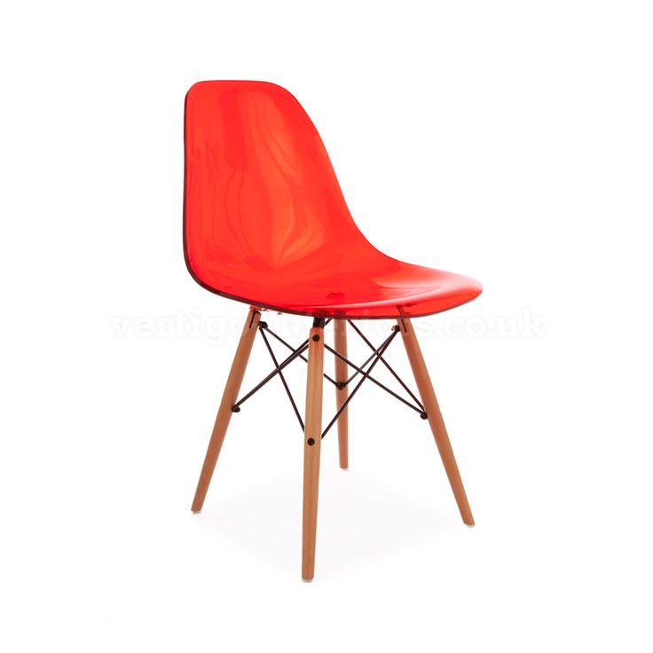Products | Vertigo Interiors USARed Ghost Style DSW Side Chair   Inspired  By Designs Of Charles