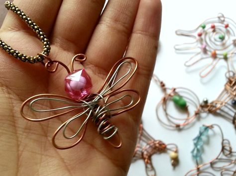 DIY Dragonfly Pendant • Free tutorial with pictures on how to make a pendant in under 5 minutes #howto #tutorial