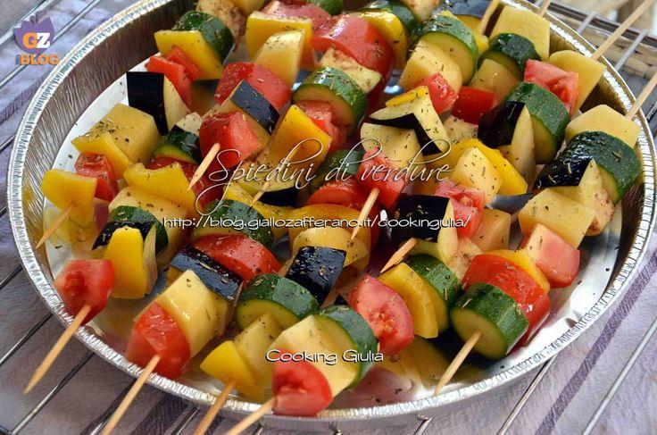 Spiedini di verdura   colorati   light   cooking giulia