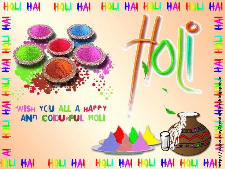 Happy Holi Greetings Cards Wallpaper