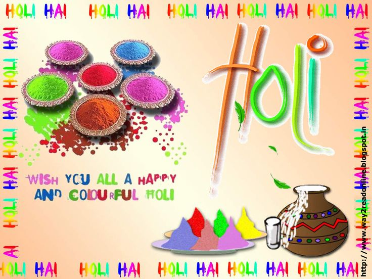 Happy Holi Greetings Cards Wallpaper