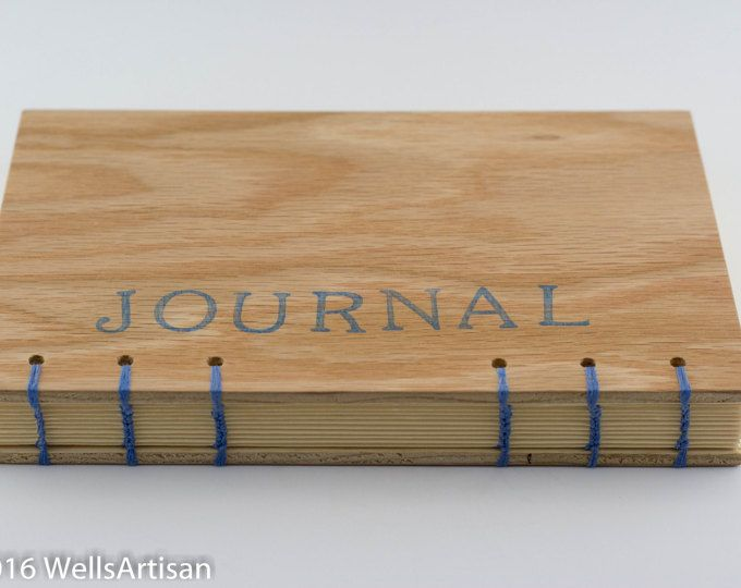 Natural Oak Coptic Stitch Journal - 160 pages
