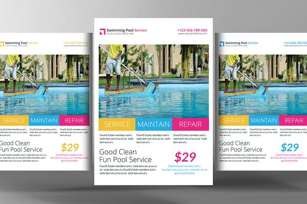 Swimming Pool Cleaning Service Flyer - Flyers - 1