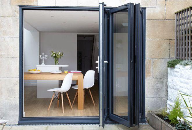 grey bi fold doors - Google Search