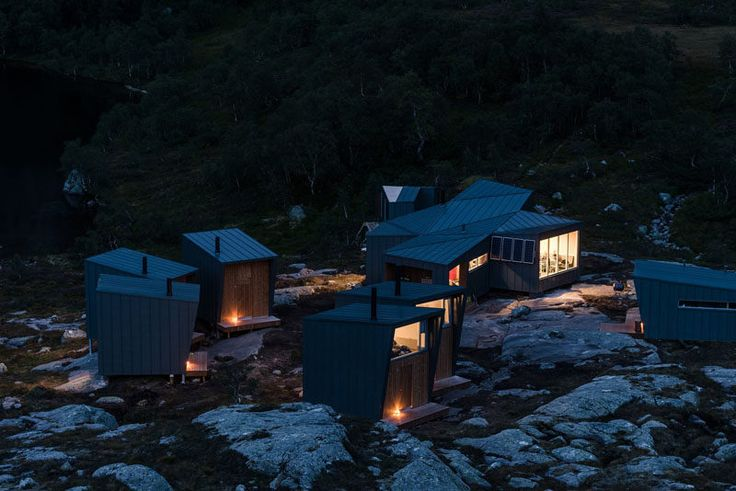 Hidden away in the mountains of Forsand, Norway, are these new mountain lodges designed by KOKO architects.