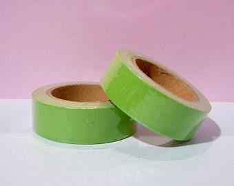 Masking tape Washi Tape neon green - Christmas gift - packaging - decoration - wedding