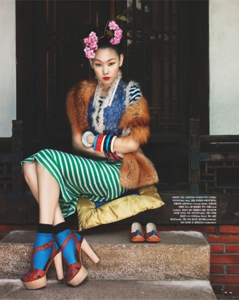 """""""Winter Flowers"""" by Bo Lee for Vogue Korea"""