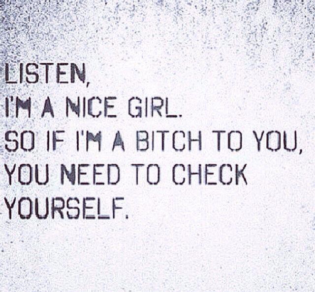Girl myself nice