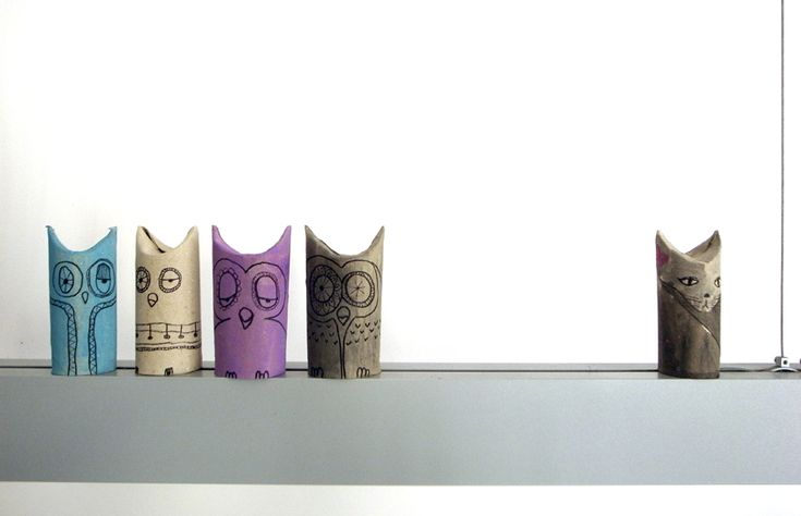 for....idk...the top of the shelves? lol   i dont like pinning owl things but........couldnt help myself. toilet paper owls
